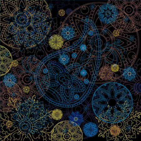budda: India ornament background. Paisley seamless