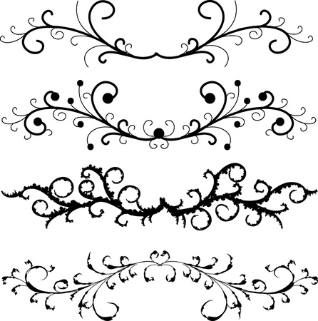set of floral patterns Banco de Imagens - 8270679