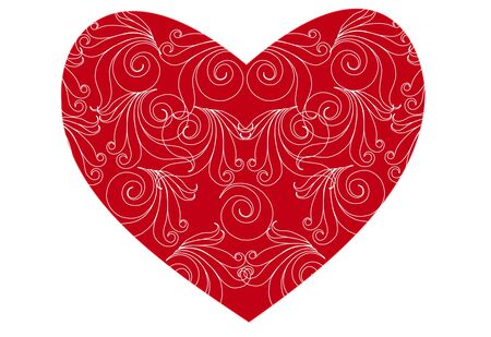 Red heart Stock Vector - 8481505