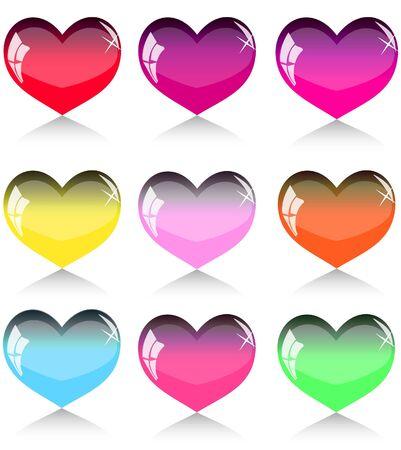 amur: Set of hearts