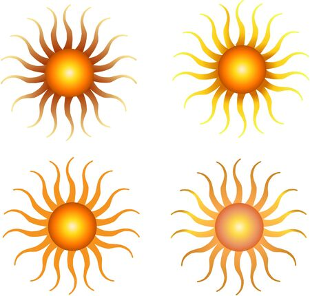 set of sun vector Stock Vector - 9552450