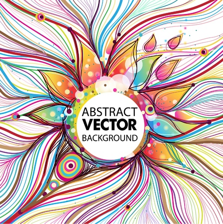 character abstract: abstract background Illustration