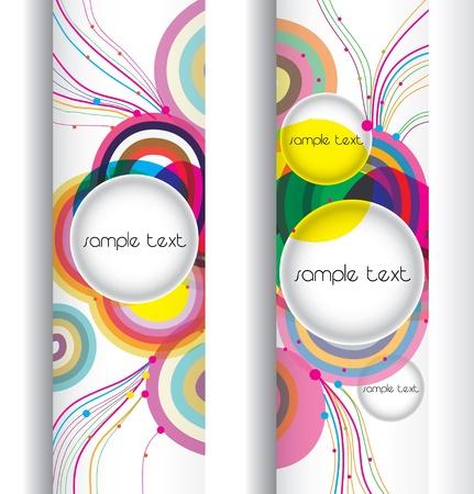 abstract modern banner .set design Banco de Imagens - 9849100