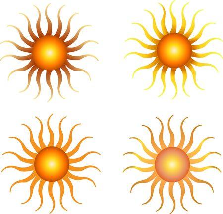 set of sun Stock Vector - 9849101