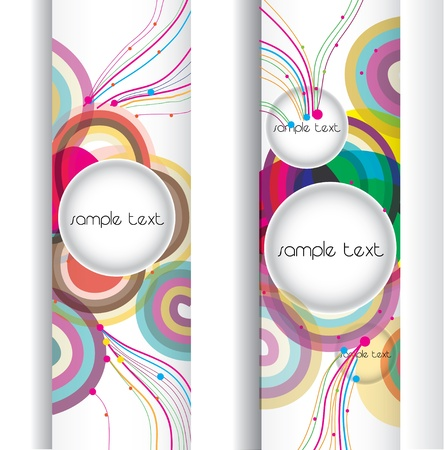 abstract modern banner .set design