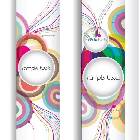 abstract modern banner .set design