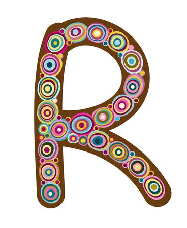 Beautiful letter  R  Vector
