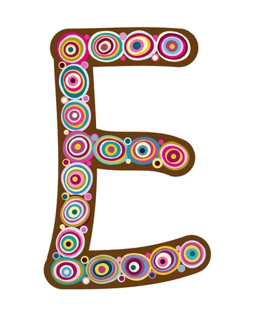 Beautiful letter  E   Vector