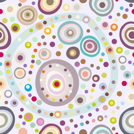 シームレスな円形の背景、丸い形状でシームレスなパターン  イラスト・ベクター素材