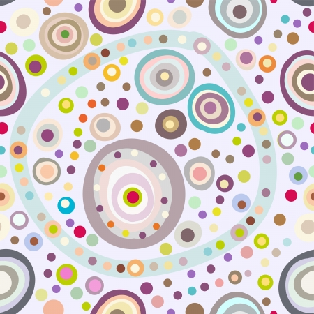 round: Seamless circle background, seamless pattern with round shapes