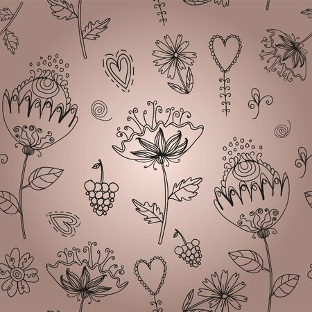 Seamless texture with flowers Illustration