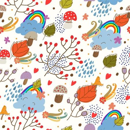 sem costura: Autumn textura sem emenda Ilustra��o