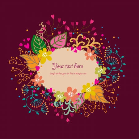 Cartoon floral background Vector