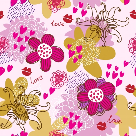 Floral seamless pattern in vector Vector