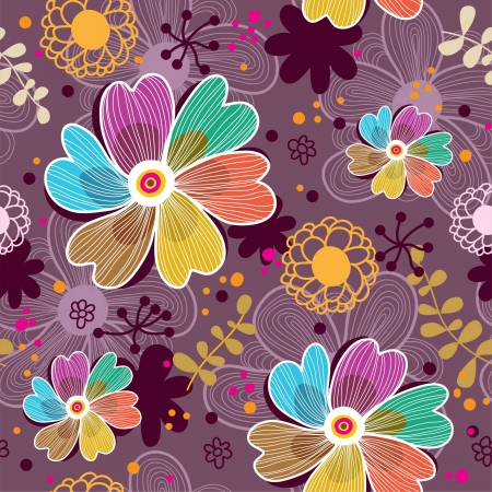 Floral seamless pattern in vector Stock Vector - 16581379