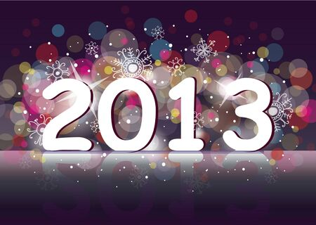 two thousand thirteen: New year 2013  two thousand and thirteen   Illustration