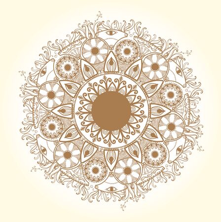 Ornamental round lace pattern Delicate circle Stock Vector - 18181589
