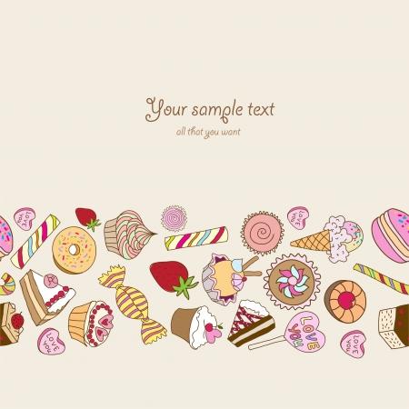 あなたのテキストのための場所とお菓子の背景