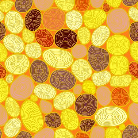 Seamless circles hand-drawn pattern, circles background  Stock Vector - 18661710