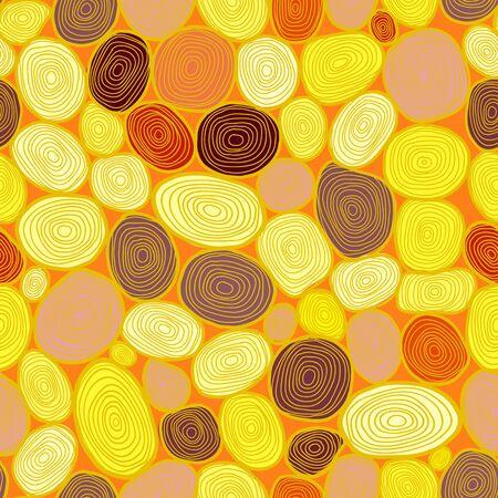 tree stump: Seamless circles hand-drawn pattern, circles background  Illustration