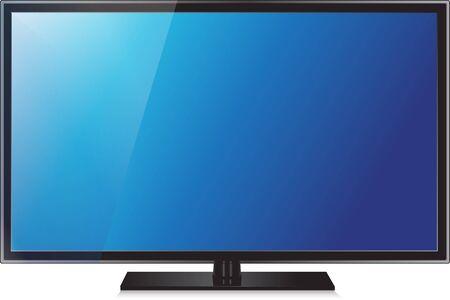 TV flat screen lcd, plasma realistic  illustration. Vector