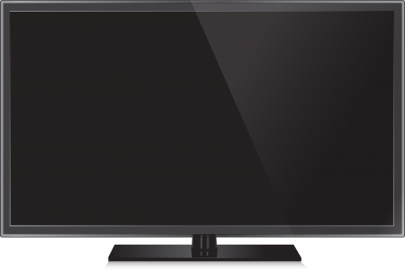 flat screen tv: TV flat screen lcd, plasma realistic  illustration. Illustration