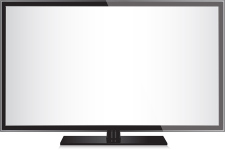 TV flat screen lcd, plasma realistic  illustration. Illustration