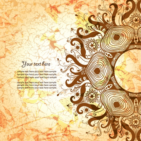 diameter: Vintage invitation card on grunge background  Illustration