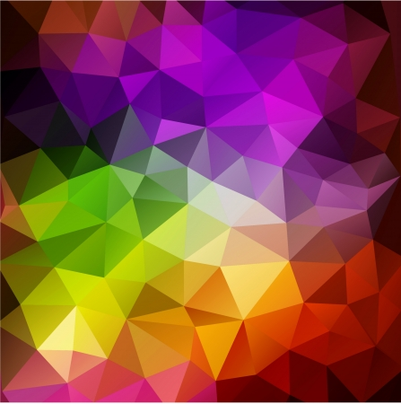三角ポリゴンとカラフルな抽象的な幾何学的な背景