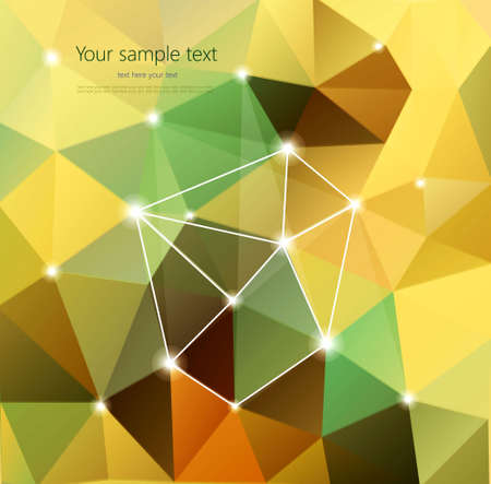 Abstract Retro Geometric Background with place for your text Stock Vector - 19716469