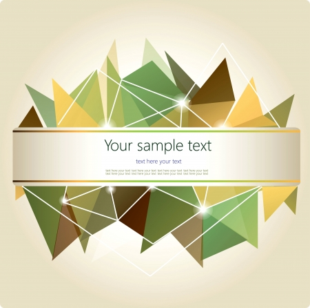 Abstract  Geometric Background with place for your text  Vector