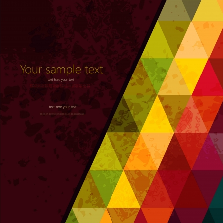 Colorful abstract geometric background with triangular polygons Banco de Imagens - 20295736