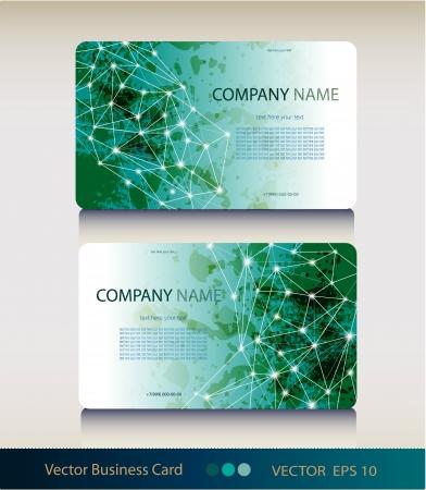 抽象的な幾何学的なビジネス カードのセット