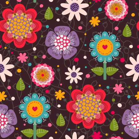 Floral seamless pattern.Seamless pattern can be used for wallpaper, pattern fills, web page background,surface textures. Stock Vector - 20988750