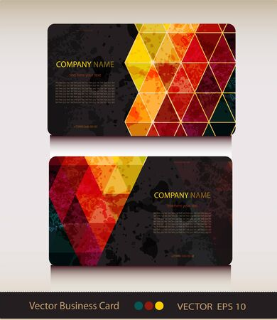 Set of abstract geometric business card