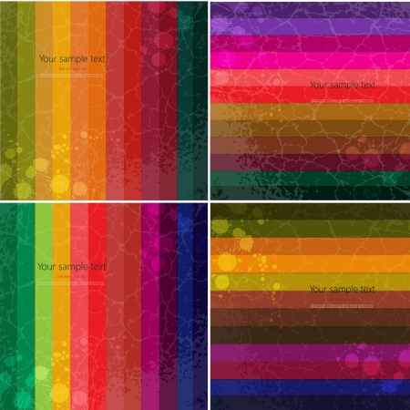 Set of four Colourful line background.Strips background can be used for wallpaper, web page background,surface textures and so on