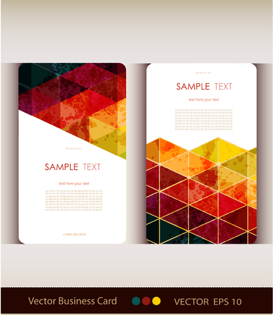 name card: Set of abstract geometric business card