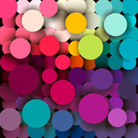 diameter: Colorful abstract geometric background with a mosaic effect with different diameter circles Stock Photo
