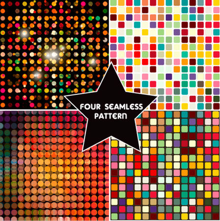 Set of four colorful abstract geometric background. photo