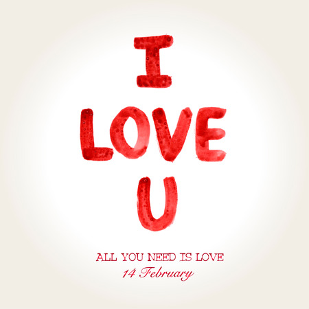 Happy Valentines Day background. I Love You background.14 February.Vector illustration illustration