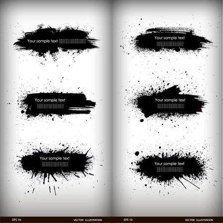 Vector illustration of Splash banners set Banco de Imagens - 27228008