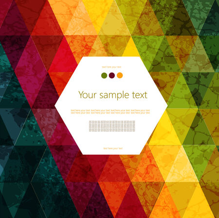 Colorful abstract geometric background with place for your text Stock Vector - 27782909