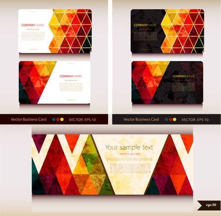 stationary set: Corporate Identity  templates  Geometric pattern
