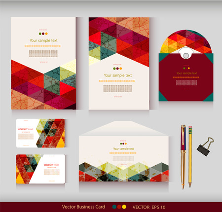 visiting card: Corporate Identity  templates  Geometric pattern