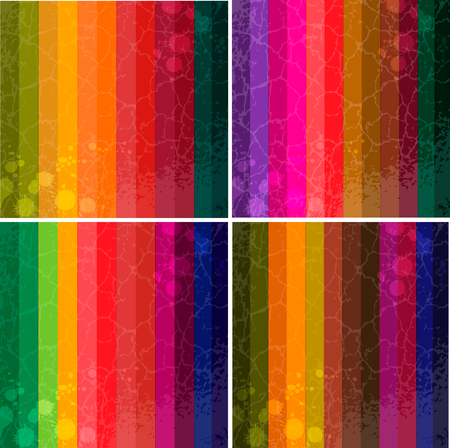 gaily: Set of four colourful line background
