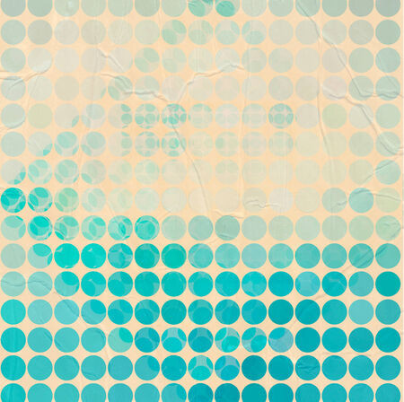 Abstract circles background with grunge paper. Vector