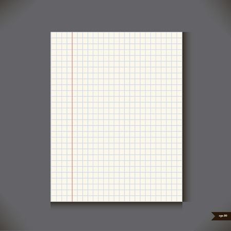 grid paper: Paper sheet Vector illustration