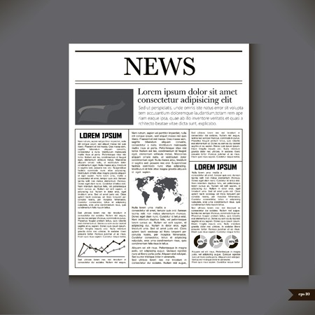 The newspaper with a headline News Illustration
