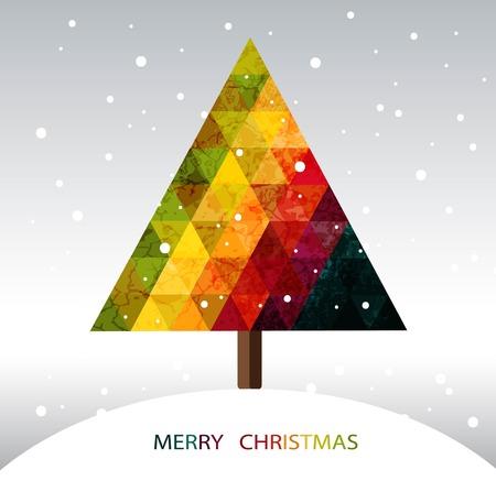 Colorful geometric Christmas tree Vector