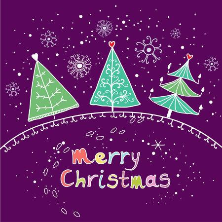 scene season: Cartoon Christmas background